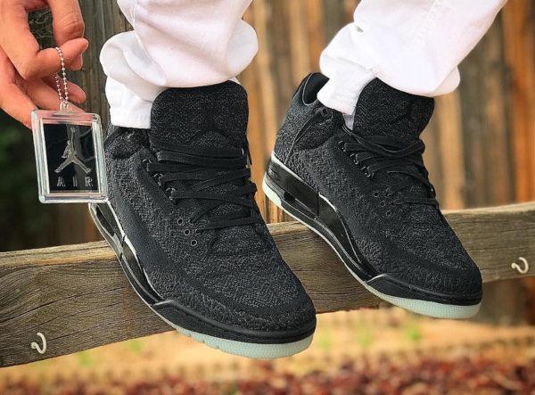 best service e5ff3 04a79 Zapatillas Nike Air Jordan 3 Flyknit Black