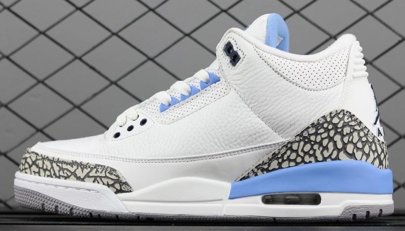 more photos cf835 768b7 Zapatillas Nike Air Jordan 3 Unc White And Light Blue40-47
