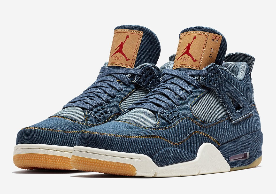 sale retailer b0966 54369 ... authentic zapatillas nike air jordan 4 retro x levis blue denim. cargando  zoom. 19a3e