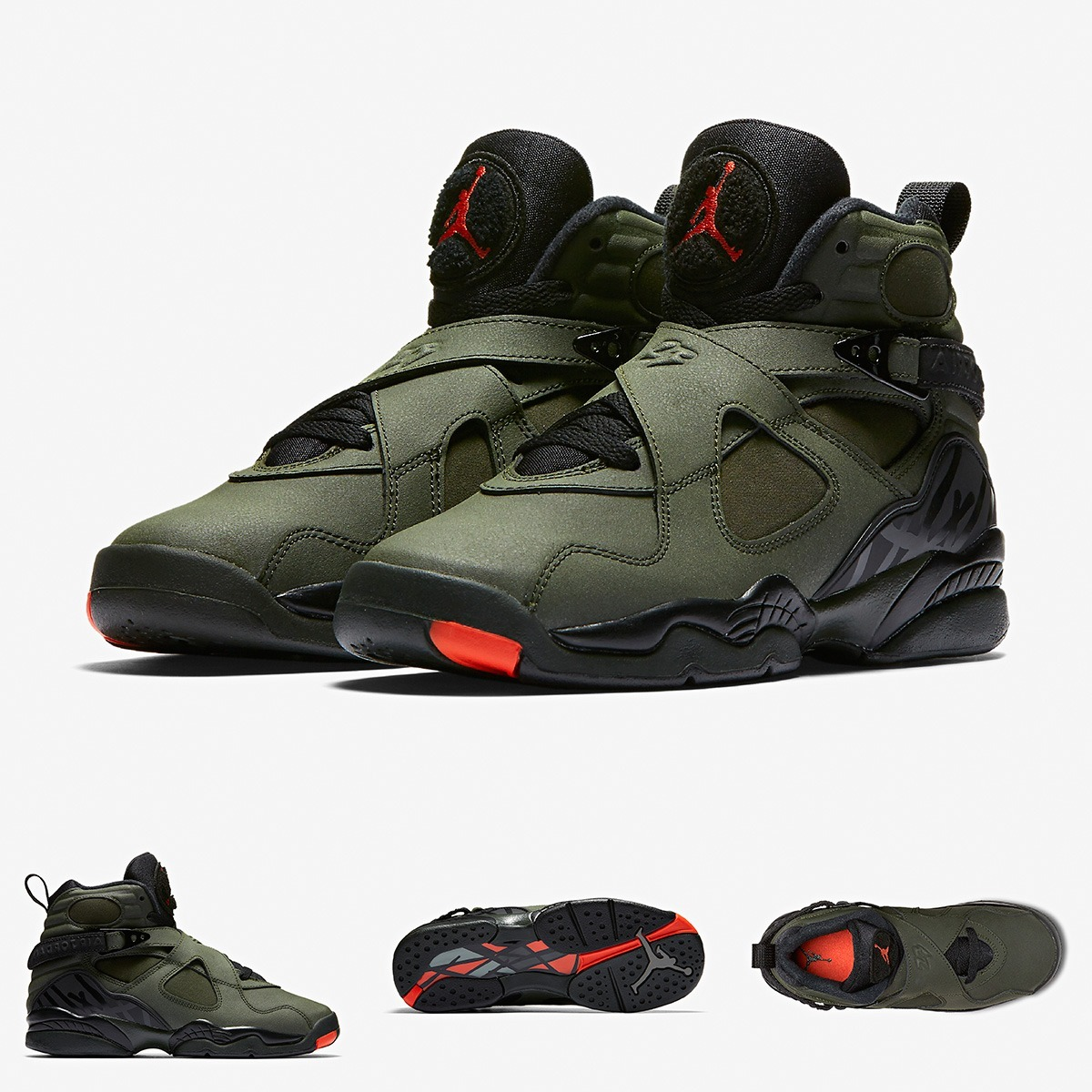 100% authentic 89e7a 53719 zapatillas nike air jordan 8 retro take flight verde. Cargando zoom.