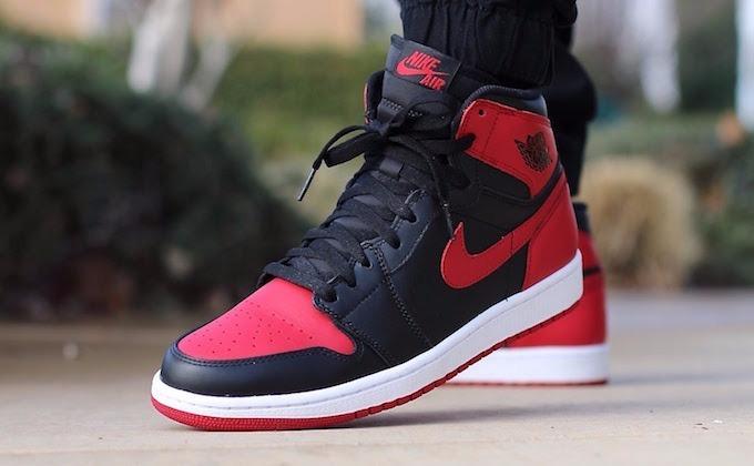 cooperar Barbero en progreso  Zapatillas Nike Air Jordan Retro 1 High Og Black And Red - S/ 480,00 en  Mercado Libre