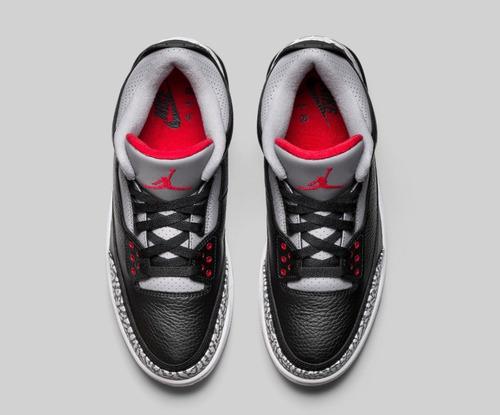 zapatillas nike air jordan retro 3 og black cement 2018