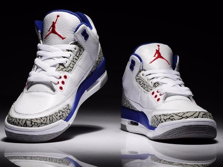 pretty nice 8f1d8 6b795 Zapatillas Nike Air Jordan Retro 3 White And Grey | Basket