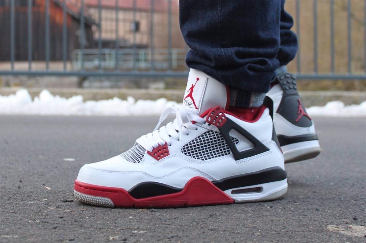 7511ebda1150 Zapatillas Nike Air Jordan Retro 4 Fire Red