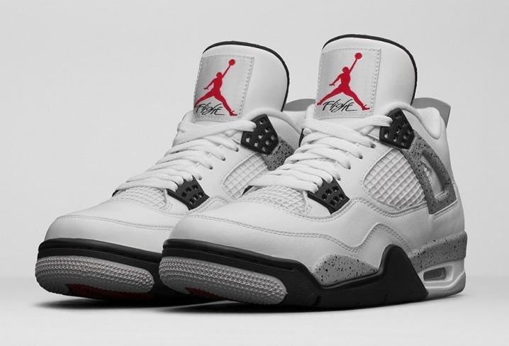 97752683c8 Zapatillas Nike Air Jordan Retro 4 Og White Cement - Men s ...