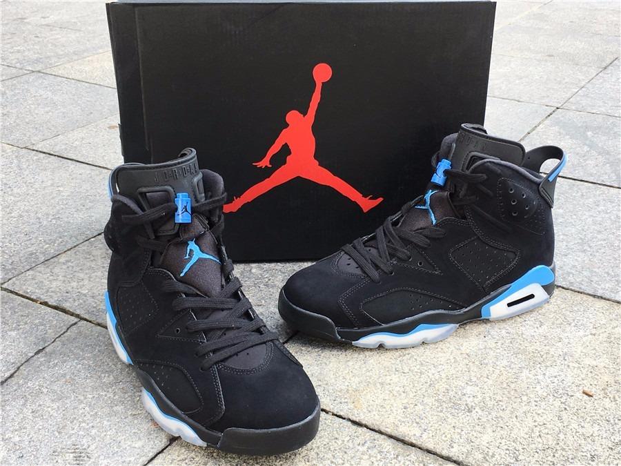 quality design a8ec8 2a393 Zapatillas Nike Air Jordan Retro 6 Unc Black University Blue