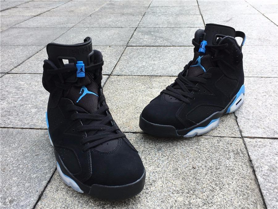 quality design 9b706 67aec Zapatillas Nike Air Jordan Retro 6 Unc Black University Blue
