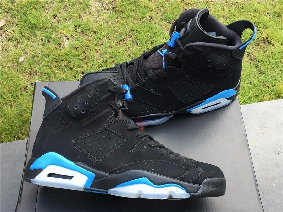 quality design 43471 c2624 Zapatillas Nike Air Jordan Retro 6 Unc Black University Blue