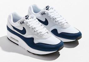 Zapatillas Nike Air Max 1 Blanca Azul Dama