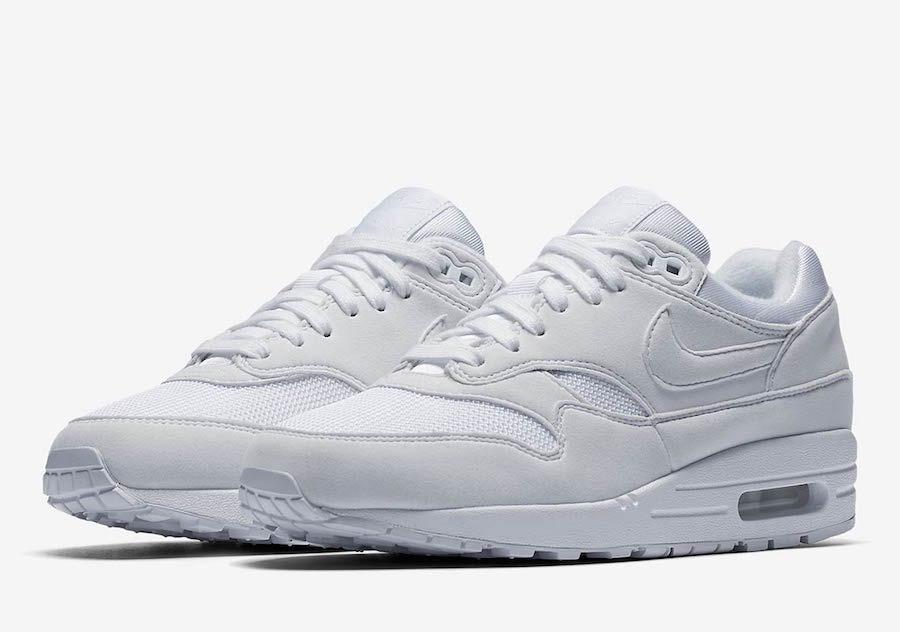 buy online 16776 ec86d zapatillas nike air max 1 triple white mujer 2018 sneakers. Cargando zoom.