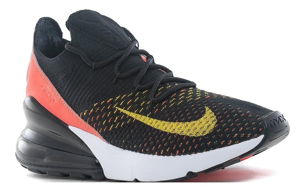 Zapatillas Nike Air Max 270 Flyknit Black Yellow Mujer
