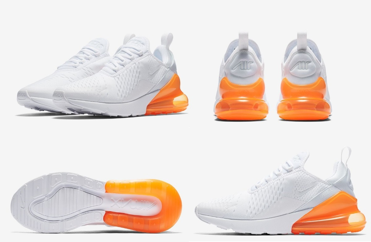 buy popular e8f5a e0624 ... low price zapatillas nike air max 270 hombre blanco naranja total.  cargando zoom. d3864
