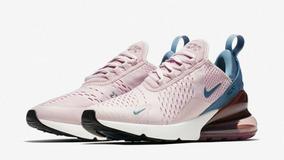 Zapatillas Nike Air Max 270 Rosa Y Azul Dama