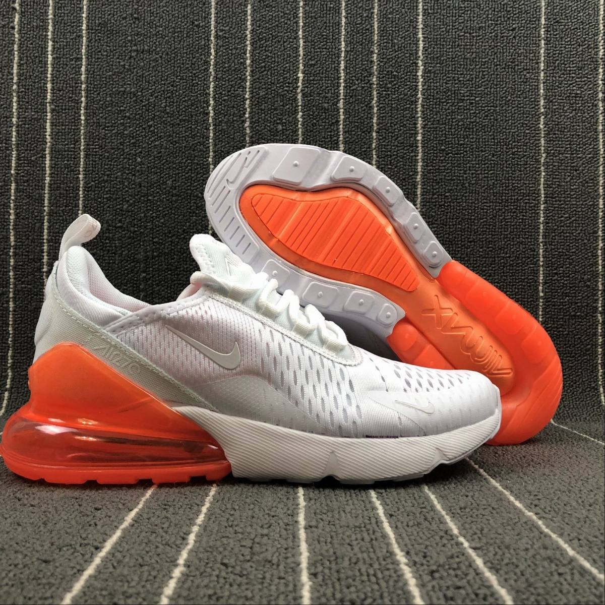 Zapatillas Nike Air Max 270 White orange Exclusive Line