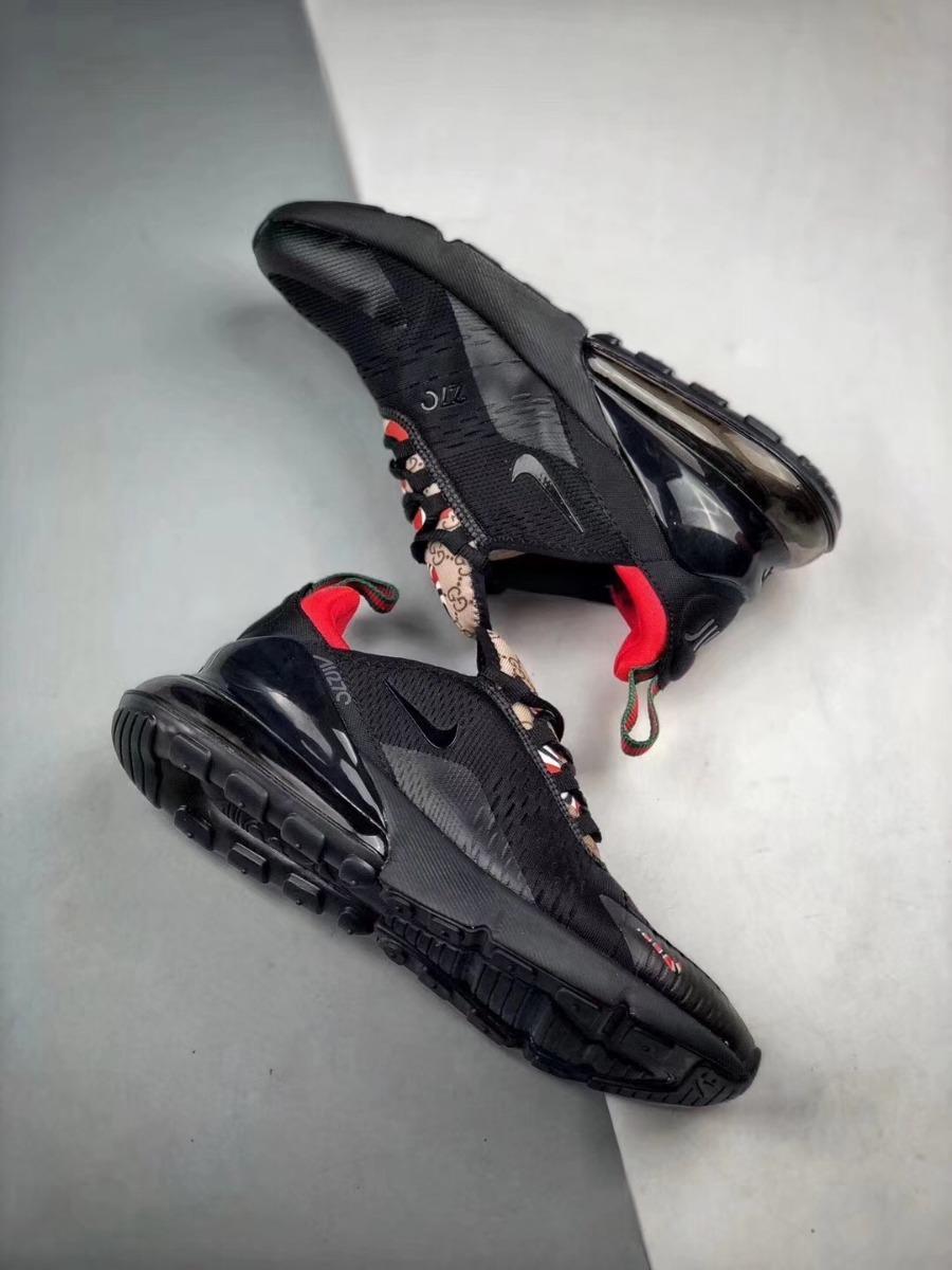reputable site ccbf0 4395e Zapatillas Nike Air Max 270 X Gucci Black
