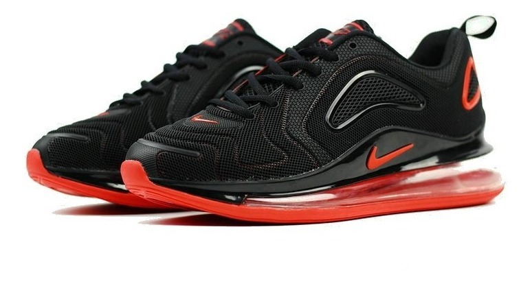 Zapatillas Nike Air Max 720 Negro Y Rojo 36 40