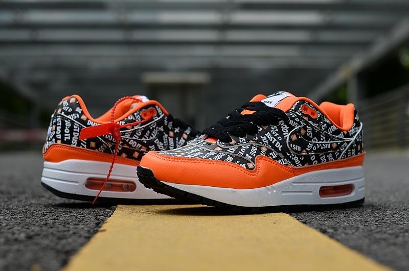 Zapatillas Nike Air Max 87 Just Do It Black Naranja 36 45