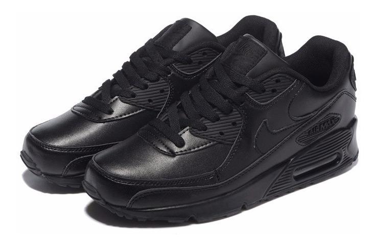 zapatillas air max 90 negras niña