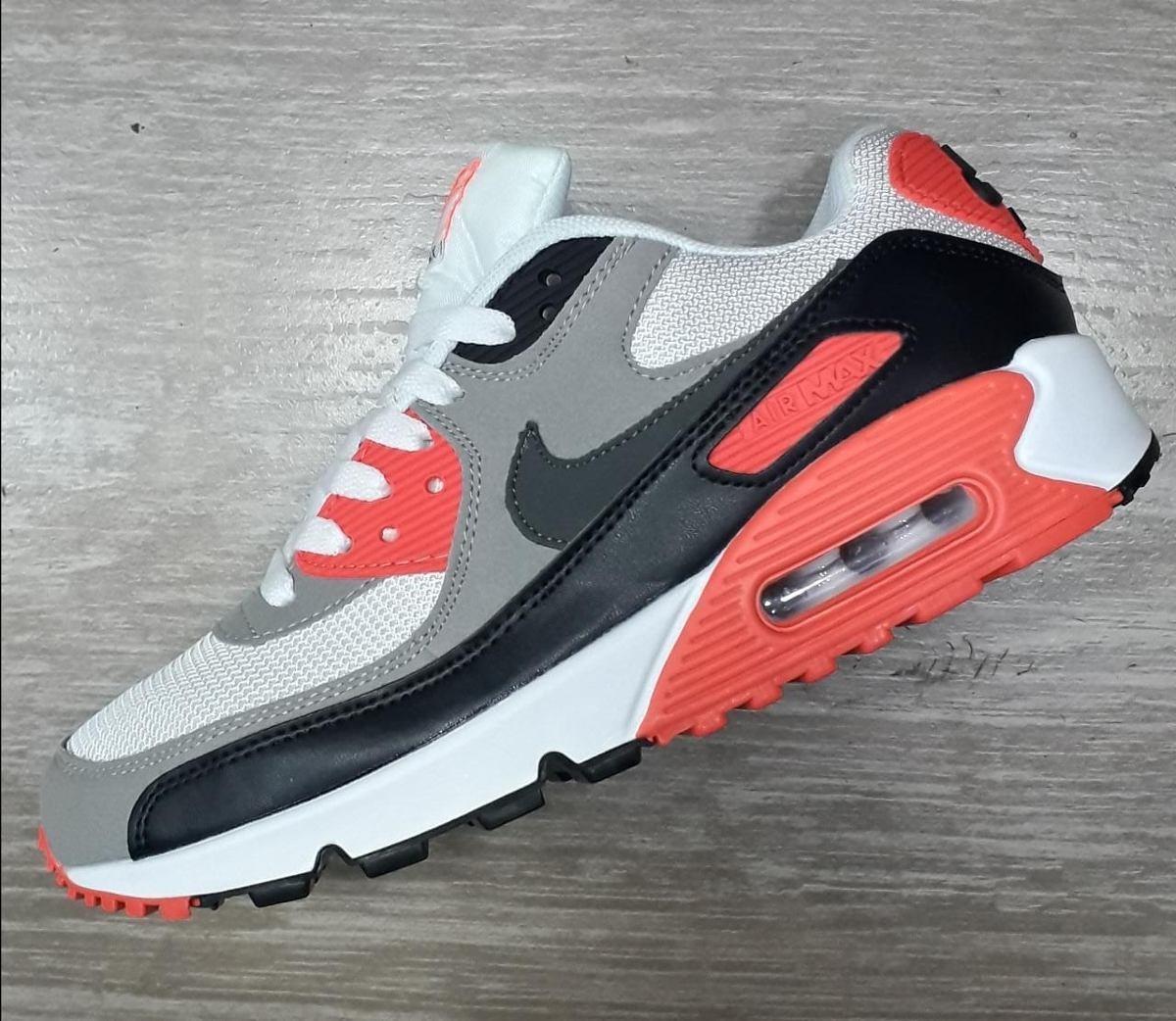 caliente Zapatillas Nike Air Max 90 Infrared Naranja Dama