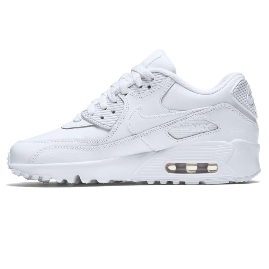 b50eb08e Zapatillas Nike Air Max 90 Leather Blanca Niño - $ 4.799,00 en ...