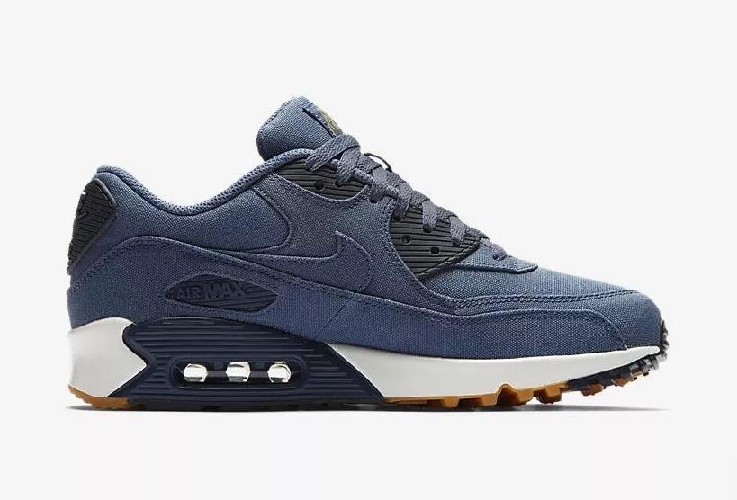 Zapatillas Nike Air Max 90 Linen Twill Binary Blue 2018