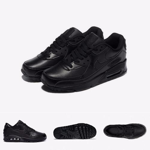 zapatillas nike air max 90   triple black talla unica 12us