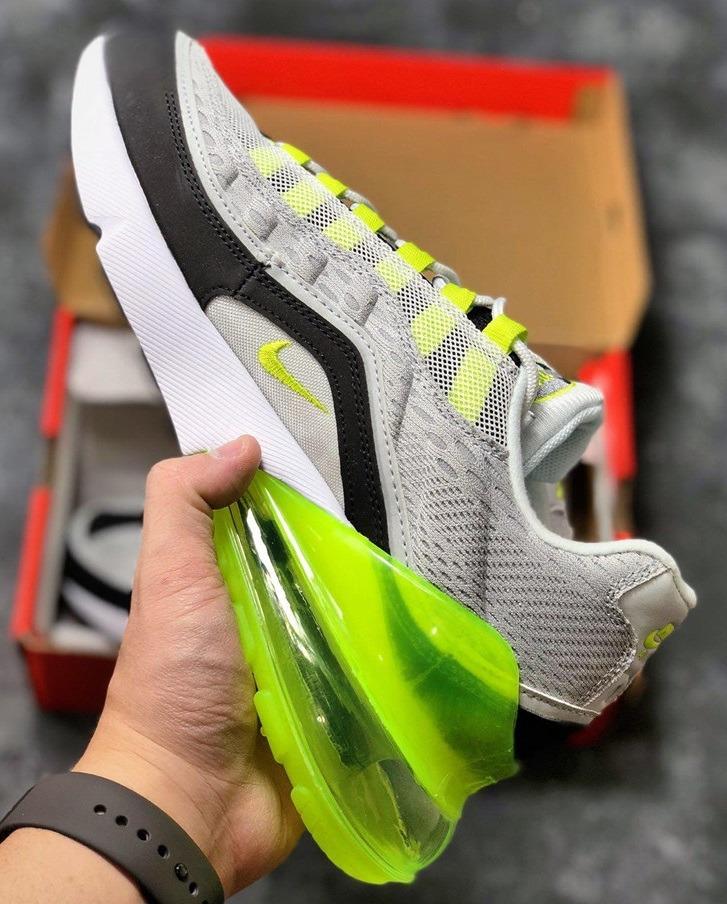 Zapatillas Nike Air Max 95 270 Gris Claro Y Verde Lima40 45