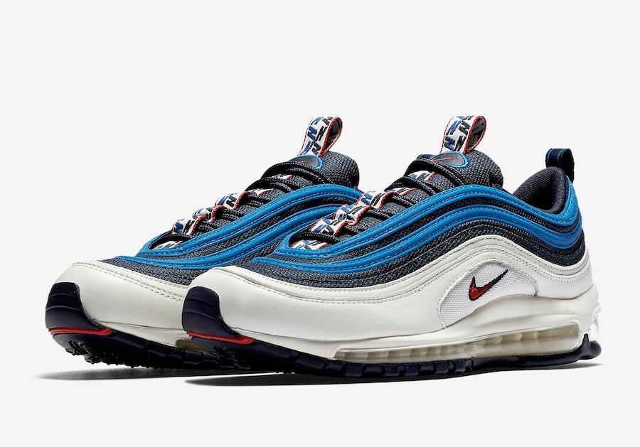 753fed3ce zapatillas nike air max 97 obsidian blanco azul rojo // 2018. Cargando zoom.