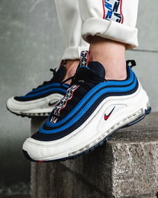 Zapatillas Nike Air Max 97 Se White Blue Stock Talla 41 Y 42