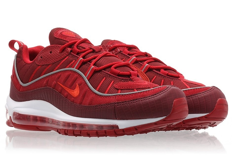 separation shoes 5530c 04af4 zapatillas nike air max 98 team red habanero. a pedido usa. Cargando zoom.