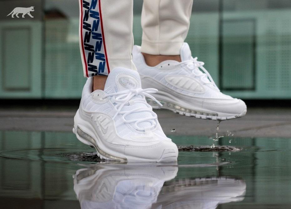 Zapatillas Nike Air Max 98 Triple Blanco Nuevo Original 2018