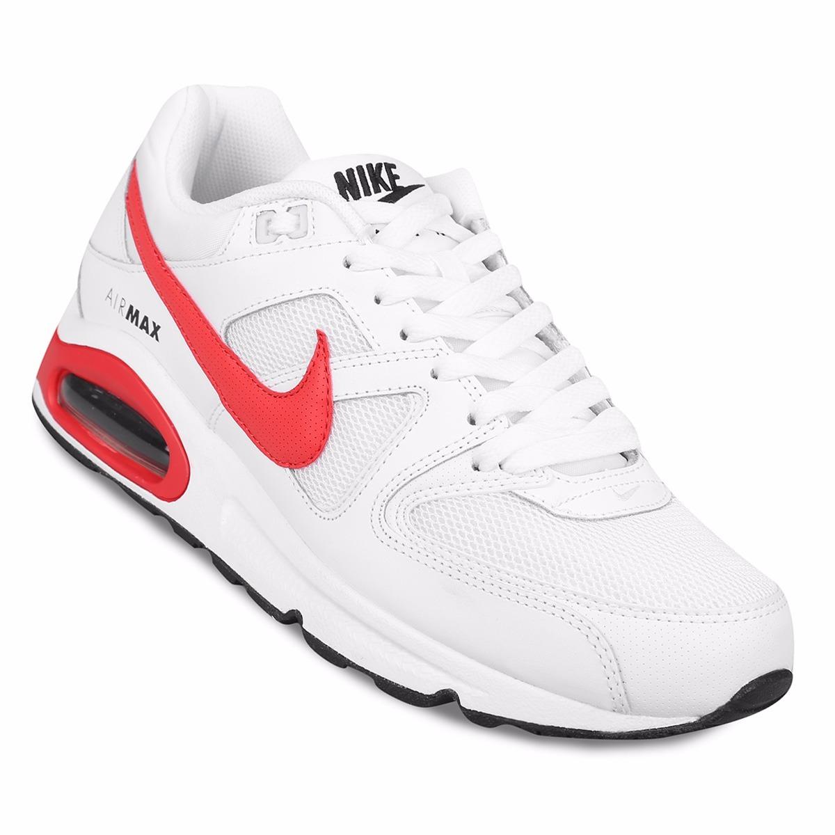 best sneakers db487 c0644 zapatillas nike air max command blanco + rojo - originales. Cargando zoom.