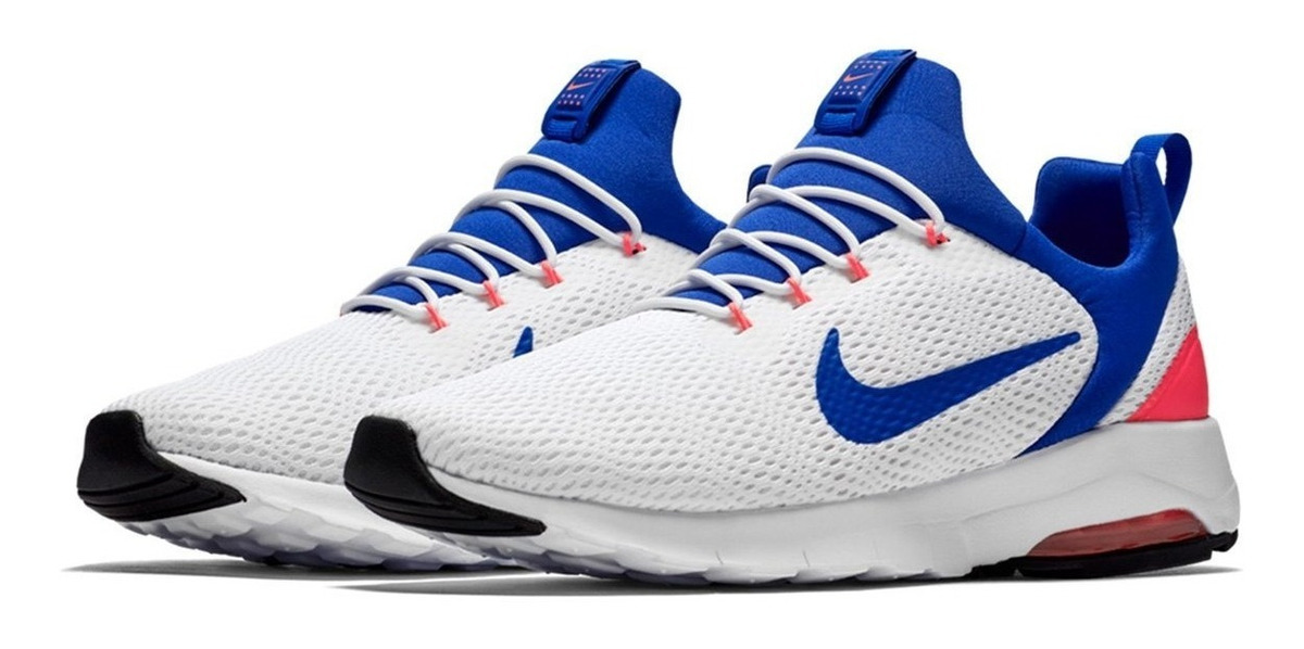 Zapatillas Nike Air Max Motion Race Blanco Y Azul marino
