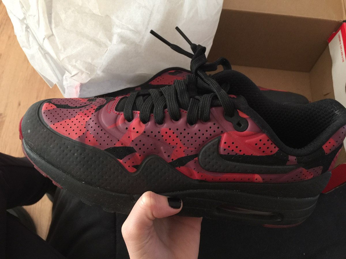 Zapatillas Nike Air Max Rojas Bordo Negras Hombre