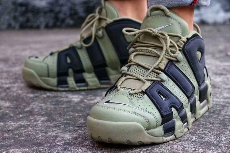 online store 2281b 49399 ... zapatillas nike air more uptempo verde negro nuevo 2017