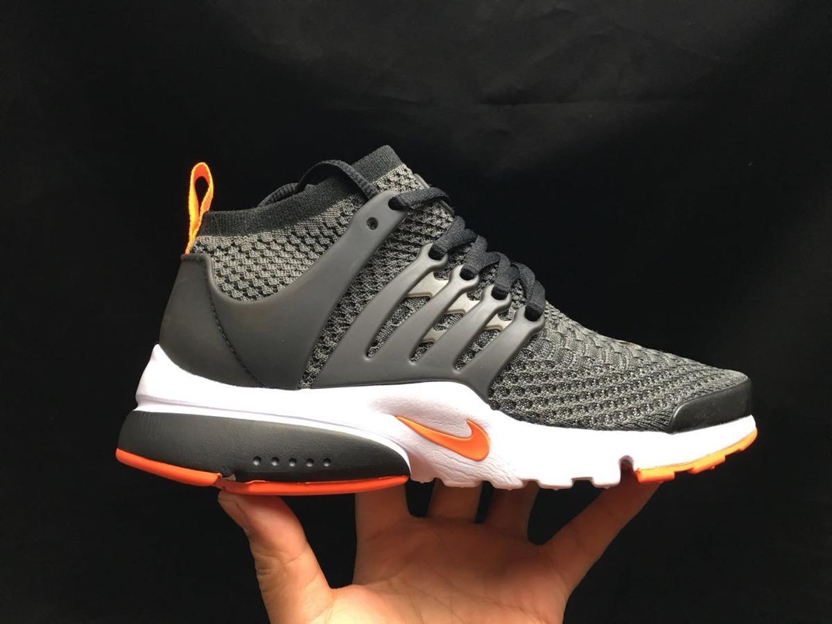 san francisco a4c6d 6c575 zapatillas nike air presto flyknit ultra negro y naranja. Cargando zoom.