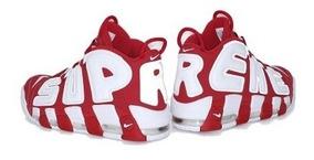 Zapatillas Nike Air Uptempo Supreme Roja Blanca Hombre