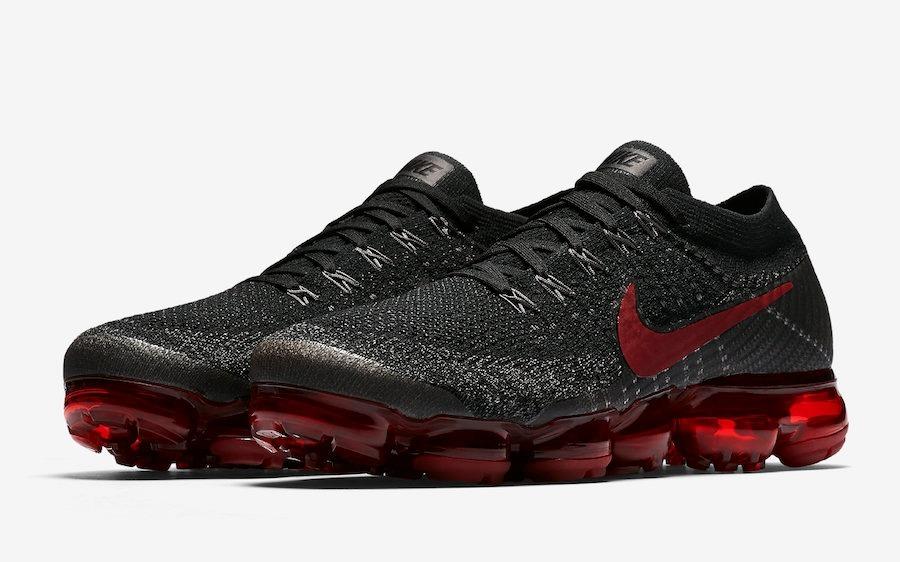 Zapatillas Nike Air Vapor Max Bred Negro Rojo Nuevo 2018