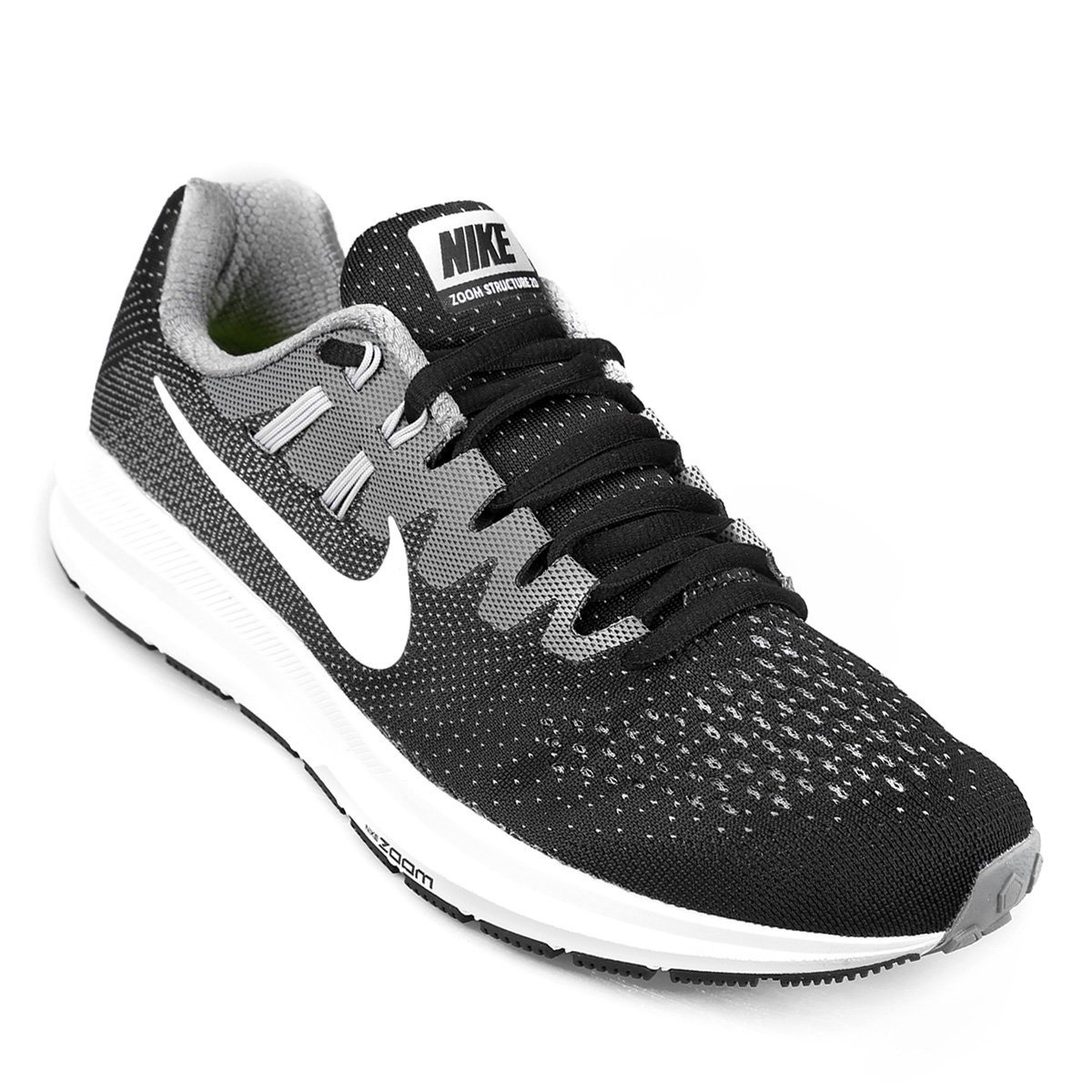 dd379b05e zapatillas nike air zoom structure 20 - negro y blanco. Cargando zoom.