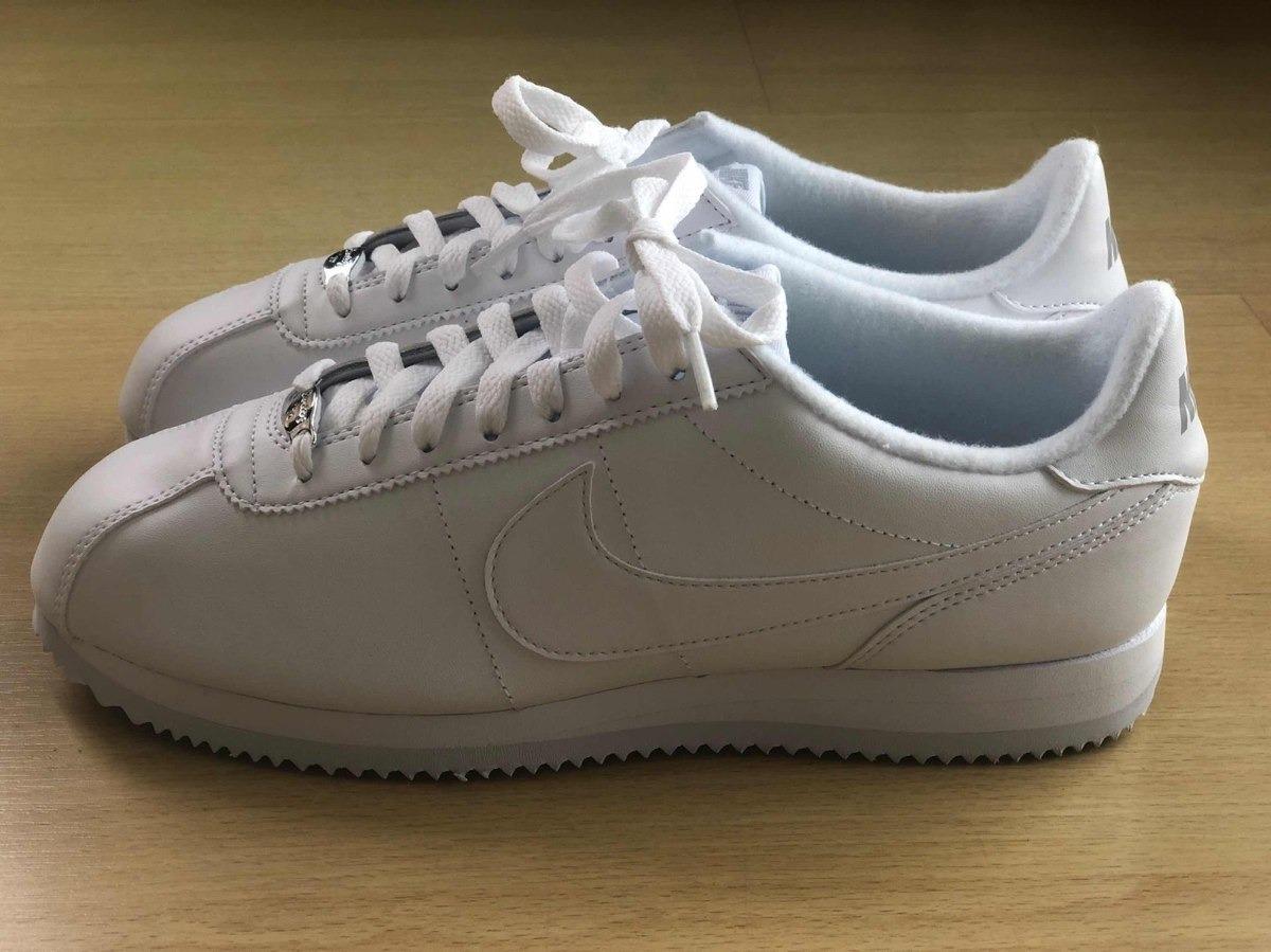 Zapatillas Nike Classic Cortez Blanca Cuero Hombre Nuevas