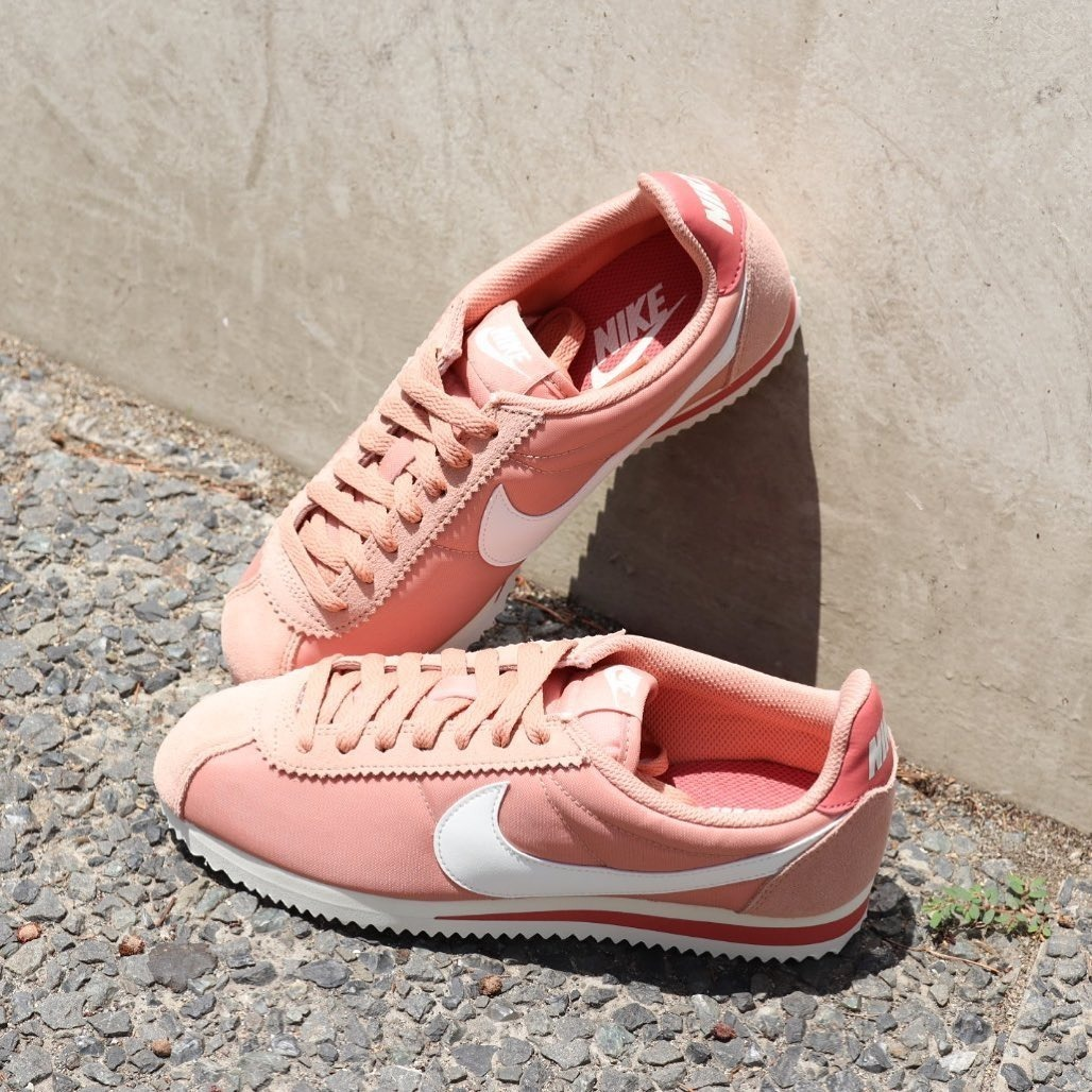 6 Nylon Mujer Rosa para Classic Nike Coral Cortez Talla 6vYbf7gy