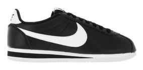 Zapatillas Nike Classic Cortez Para Mujer Color Negro