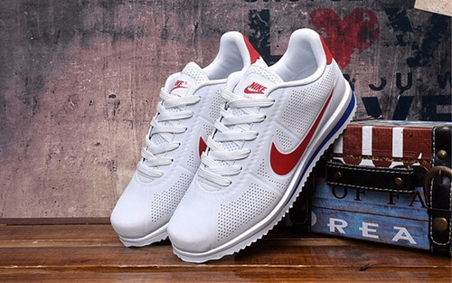 zapatillas nike cortez ultra blanco / rojo original stock