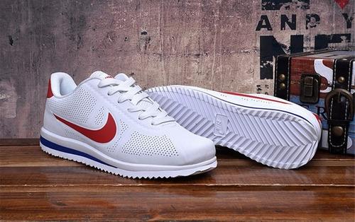 zapatillas nike cortez ultra blanco / rojo original tienda