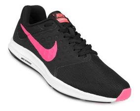 Zapatillas Nike Downshifter 7 Negro Y Rosa