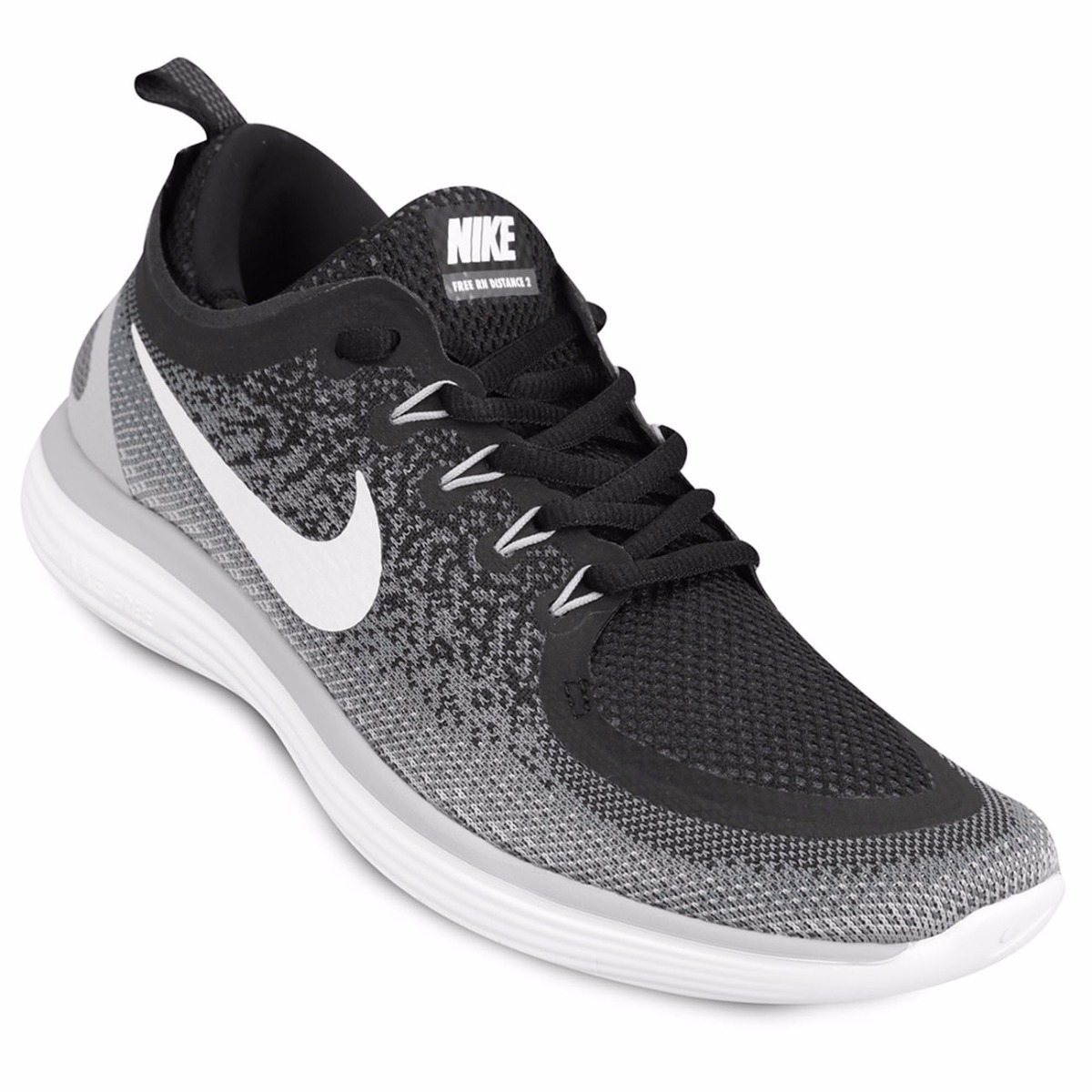 outlet store 47463 c2d1a zapatillas nike free rn distance 2 - mujer - negras. Cargando zoom.
