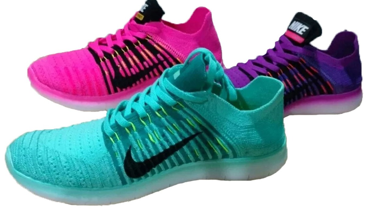 Zapatillas Nike Free Run Flyknit Mujer En 3 Colores