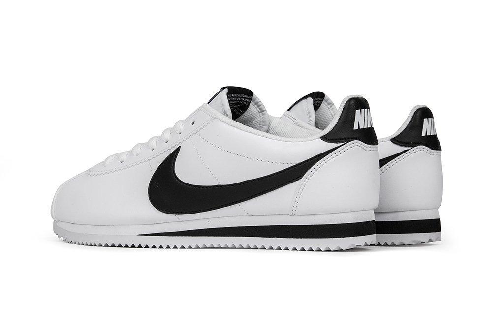 Zapatillas Nike Cortez Basic Leather Hombre Blanco. 6 Cuotas