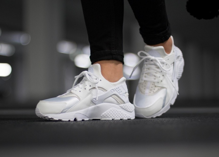 zapatillas nike huarache mujer blancas