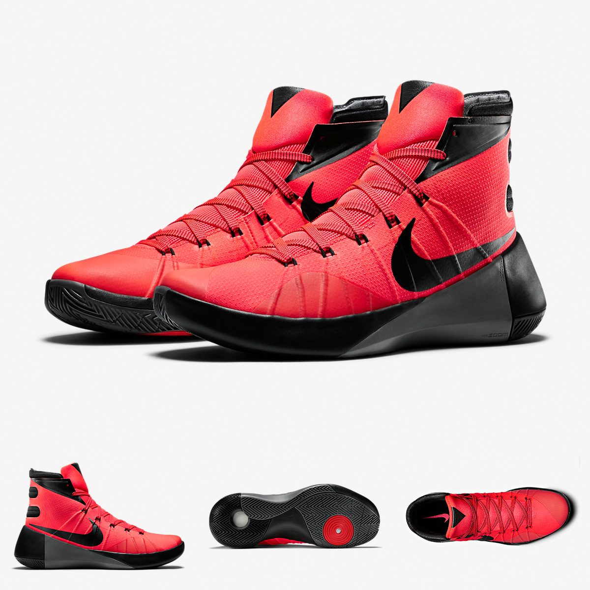 detailed look 3cd07 6aec4 zapatillas nike hyperdunk 2015   rojo negro bright crimson. Cargando zoom.